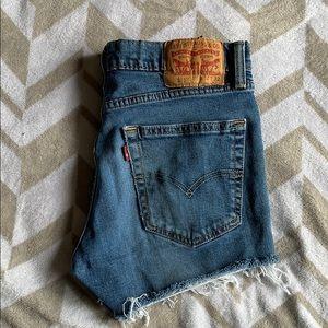 Vintage Levi jeans cut to shorts